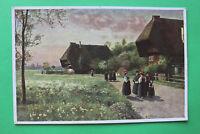 Kunst H Hoffmann AK Sonntag Morgen Schwarzwald Tracht Gutach Bauernhof 1942 W7