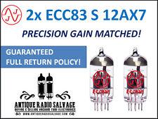 New JJ Electronics (Tesla) Precision Gain Matched Pair (2x) ECC83-S 12AX7 Tubes