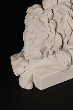 Chatsworth leones de mármol (par), esculturas de mármol clásico, Arte, Regalo, ornamento.