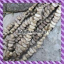 1 Draht von 50 perlen Kern- Palme nuss Areka- - weiß - Quartier 16mm