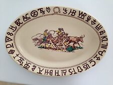 "WALLACE CHINA WESTWARD HO 'RODEO' 15 1/2"" OVAL SERVING PLATTER"
