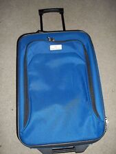 Protege Blue & Black Trimmed Luggage Travel Carry On Bag 12.5 x 18.5 x 6.5