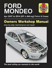 Ford Mondeo Gasolina y Diésel 2007-2014 Haynes Manual de Taller 5548 Nuevo