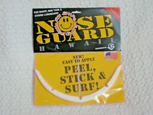 SURFCO HAWAII FUN SHAPE-HYBRID NOSE GUARD NEW IN RETAIL PACKAGING WHITE