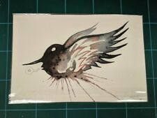 Jeff Soto Watercolor Painting Original Art Spider Pearl Jam Seeker Signed Bird
