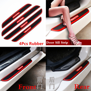 4x Carbon Fiber Car Door Scuff Plate Sill Cover Panel Step Protector Accessories