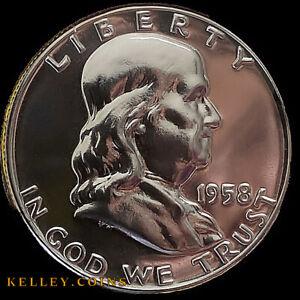 1958 50C Franklin Silver Half Dollar GEM PROOF