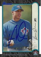 Vernon Wells Toronto Blue Jays 1999 Bowman Signed Card