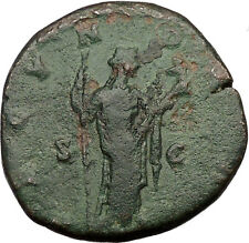 FAUSTINA II Marcus Aurelius Wife Large Ancient Roman Coin Fertility Cult  i36512