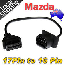 For Mazda 17-pin OBD1 to 16-pin OBD2 OBDII Diagnostic Adapter Converter Cable