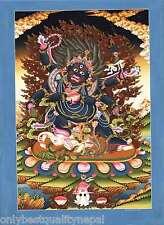 Tanka Mahakala gönpo Bodhisattva Buddhism disconosciuta Thanka Tibet Buddismo