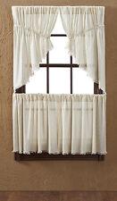 Tobacco Cloth Natural Prairie Swag Fringe Unlined Rustic Primitive Beige Window
