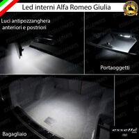 LED INTERNI ABITACOLO ALFA ROMEO GIULIA ANTI POZZANGHERA PORTAOGGETTI BAGAGLIAIO