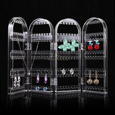 4 Doors Clear Stud Earring Jewellery Display Stand Storage Organiser Box Holder