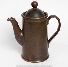 Irish Pottery KILKENNY Design COFFEE POT Ireland Tea Pot Brown Green Stoneware