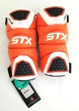 New STX Cell 2 Adult Large Orange/White/Black Lacrosse Arm Guards