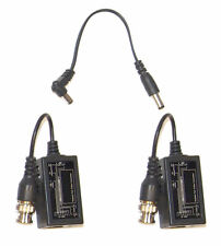 1 PAIR  Cat5 Converter Video Balun CCTV PTZ Camera Power Connector BNC to RJ45