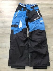 Men's Picture Snowboard Ski Pants   Medium Loose Fit   Black And Blue