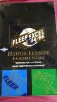 1994-95 FLEER EXCEL MINOR LEAGUE FACTORY SEALED FOIL BOX -POSSIBLE JETER/RIVERA
