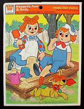 1980 Whitman Frame-Tray Puzzle RAGGEDY ANN & ANDY Exc Condition!