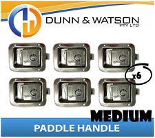 Medium Paddle Handle (Lock, Latch) x6 Camper Trailer, Caravan Toolbox, Motorhome