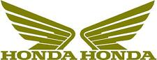 HONDA WINGS 2x 115mm Motorcycle Bike Tank Fairing Decals / Sticker ( GOLD )