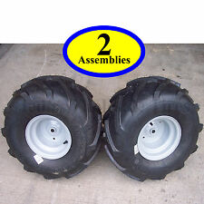 "20x10.00-8 TIREs RIMs WHEELs ASSEMBLY Garden Tractor Riding Mower 3/4"" Shaft P28"