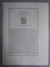 Généalogie - Famille : Du Boisgelin.