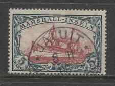 1901 German colonies MARSHALL ISLANDS  5 Mark Yacht issue  used, -JALUIT-, € 600
