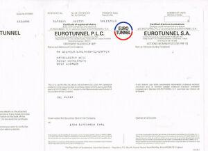 Eurotunnel, 1996, interesting, VF