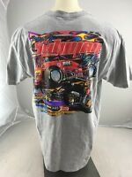 Casey Shuman 'LiL Shu'  57 racing car souvenir crewneck  T-shirt Grey XL NEON