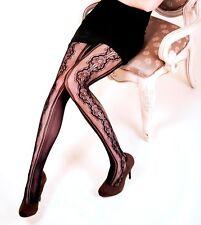 Killer Legs Plus Size Fishnet Pantyhose Stenciled Bouquet 168YD063Q Queen Yelete