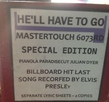 HE'LL HAVE TO GO Last Elvis Recording BILLBOARD  BRAND NEW PIANOLA ROLL