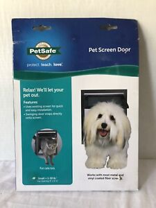 "Pet Screen Door PetSafe. Small- Up To 30 Lbs, 8"" X 9 1/4"" Opening. Sealed Box"