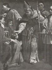 D0126 Giuseppe Maria Crespi - La Cresima - Stampa d'epoca - 1930 old print