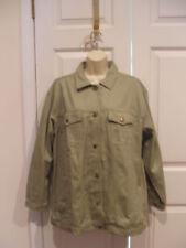 NWT FORENZA SAGE GREEN classic  DENIM shirt Jacket medium(RUNS BIG)