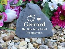 Garden Rock (Stone effect) - Personalised - Weatherproof - Small - Guinea Pig
