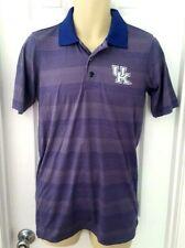 KENTUCKY WILDCATS Mens Polo Shirt Small 34/36 Blue Lightweight Embroidered Logo