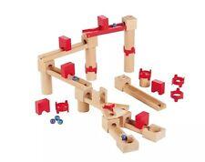 Wooden Childrens 35 Pieces Cascade Marble Run Construction Building Blocks!!