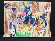 Expressionniste expressionnisme anonyme 1981 encre et pastel