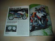 Mo revista 3280) bmw r 1100 s boxer cup réplica con 98ps en el ensayo en 3 páginas