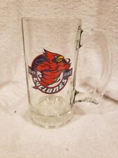 Beautiful 1990's Iowa State Cyclones 5 1/2 Inch Clear Glass Mug, Mint!