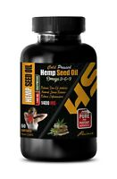 hemp oil - ORGANIC HEMP SEED OIL 1400mg - hemp oil capsules - 1 Bottle 60 Cap