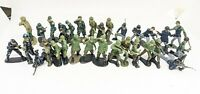 Vintage Hand Painted Green Army Men - Lot of 30- Hand Painted Military Figures