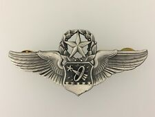 "GENUINE U.S. Air Force COMMAND Astronaut NAVIGATOR metal wings full size 3"" NASA"