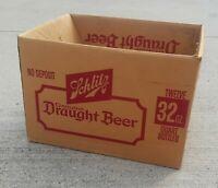 Schlitz Brewing GENUINE DRAUGHT BEER Wisconsin 12 quart bottles 32 oz case box