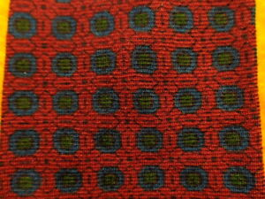 """1950s 1960s BROOKS BROTHERS ~WOOL DRESS SHIRT SUIT TIE ~RED BLUE MEDALLIONS ~49"""""""