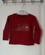 Chemises, débardeurs et t-shirts rouges coton mélangé pour fille de 0 à 24 mois