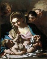 Madonna and Child by Francesco Solimena. Religion Repro choose Canvas or Paper
