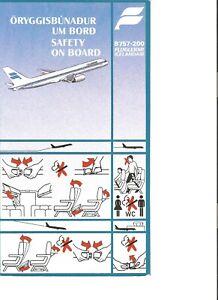 ICELANDAIR B757-200 SAFETY CARD